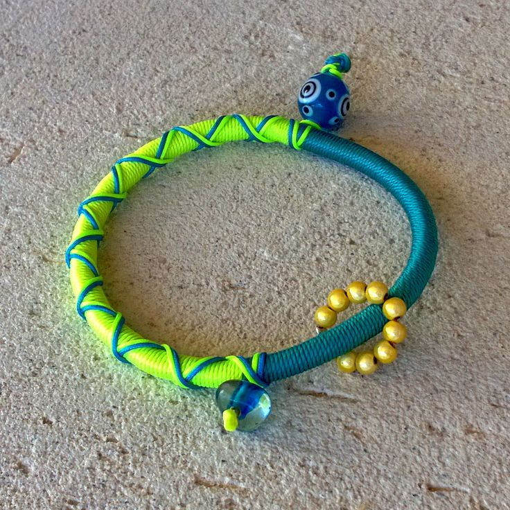 """Winter 2014 Casual collection """"Evil Eye"""" blue eye turquoise-yellow"""