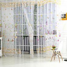nueva mariposa de tul para ventana ventana de cortinas romanas persianas cortinas bordados cortinas