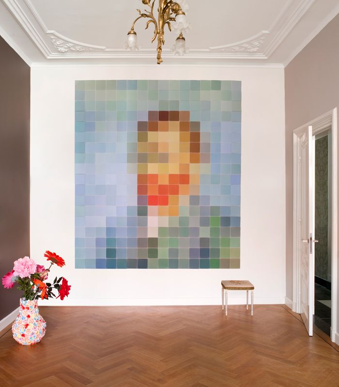 IXXI wall decoration made with a pixelated Van Gogh. This artwork is made by IXXI owner Roel Vaessen himself. The IXXI in this example will cost $252.00. (224 x 252 cm) #ixxi #ixxidesign