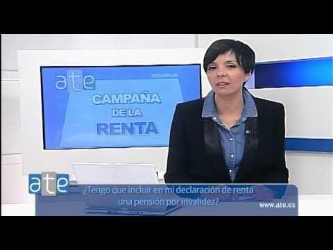 Campaña #Renta 2015: ¿Tengo que incluir en mi declaración de renta una pensión por invalidez? | GRUPO ATE