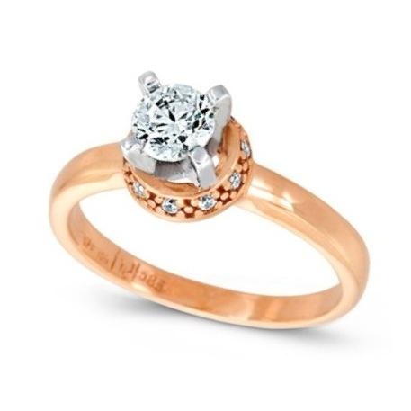White and pink gold k14  Diamonds