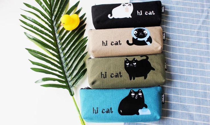Adorable Emotional Cats High School Print Japanese Pencil Case  #Adorable #Emotional #Cats #HighSchool #Print #Japanese #PencilCase