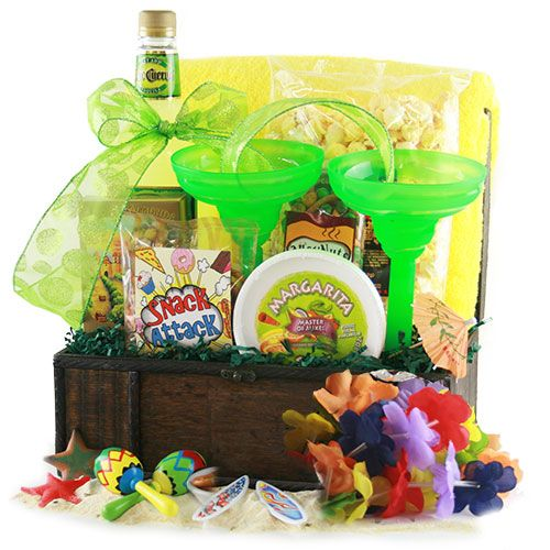 Summer Gift Ideas: Tropical Treasures Beach Gift Basket @ Design It Yourself Gift Baskets