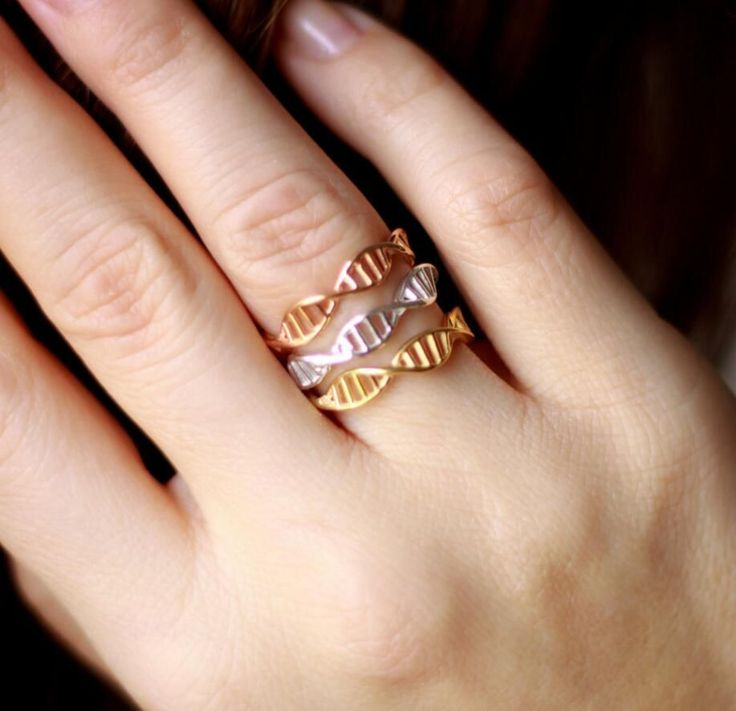New Fashion DNA ring for women Chemistry Molecule Women Ring Minimalist Ring R177-in Rings from Jewelry & Accessories on Aliexpress.com | Alibaba Group