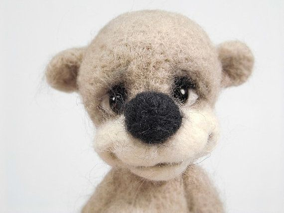 RESERVED. Collectible needle felted teddy bear Bessof. от Agafil