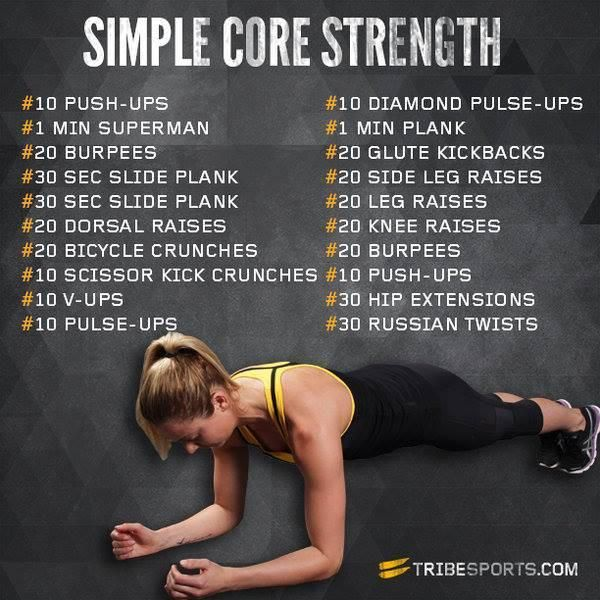 Strength Training Workouts: Running Tips: Simple Core Strength Training Exercises