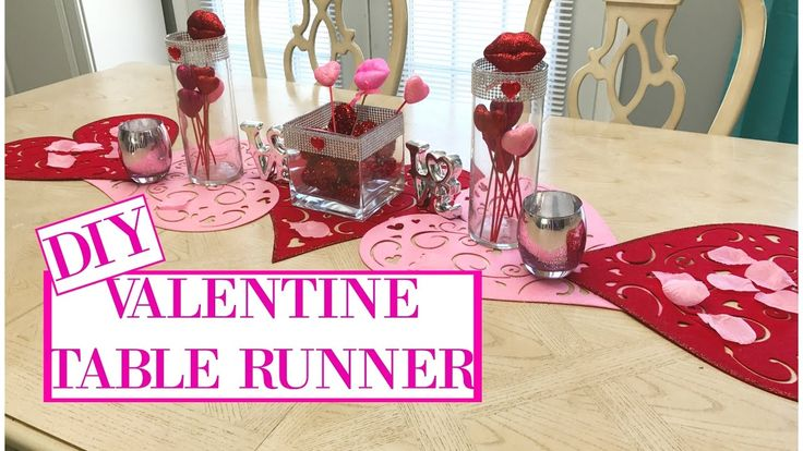 36 best images about valentine 39 s day on pinterest for Diy valentine table runner