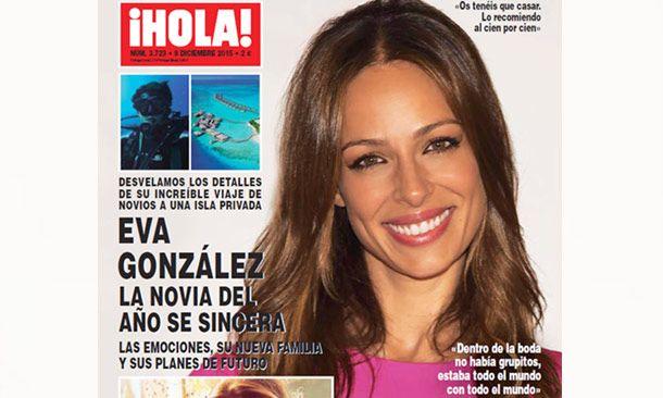 Eva González, la novia del año se sincera en ¡HOLA!