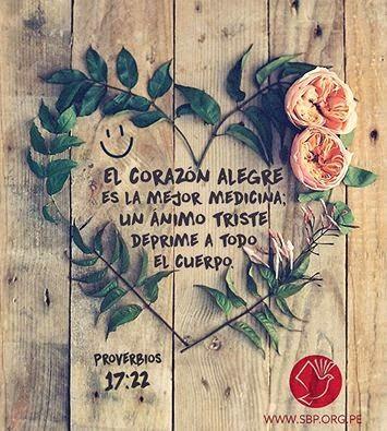 REDE MISSIONÁRIA: EL CORAZÓN ALEGRE ES LA MEJOR MEDICINA (PROVERBIOS...