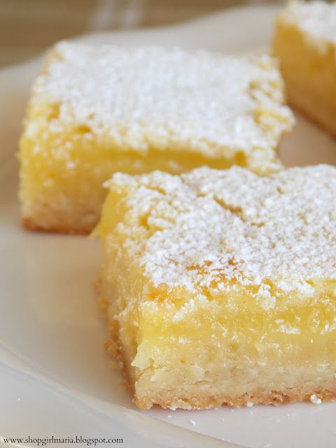 Shopgirl: Lemon Bars          Made these last night. OMG!!! Very good lemon flavor. This is a keeper.