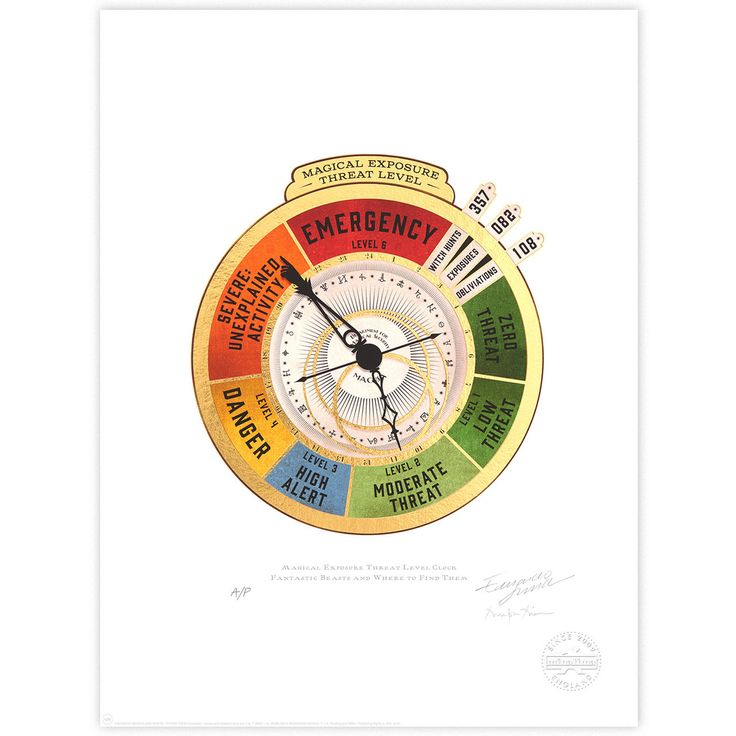 Magical Exposure Threat Level Clock - MinaLima Store