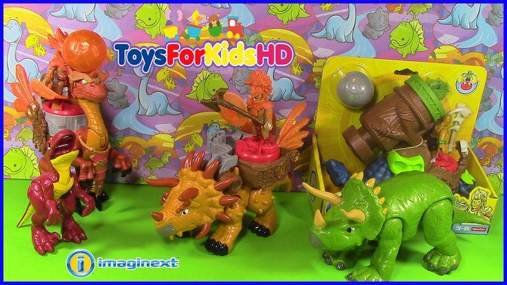 Videos de dinosaurios para niños - Juguetes de dinosaurios Imaginext Tri...