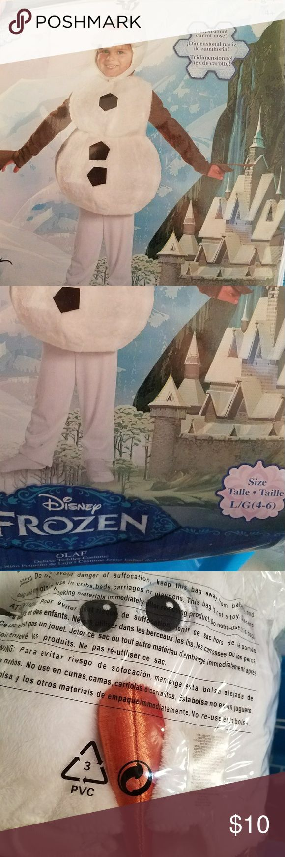 Olaf snowman costume Frozen/olaf/snowman costume. Sizes 4-6. Very good condition. Disney Costumes