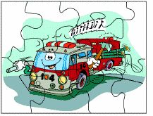 fire engine puzzle  Community Helpers