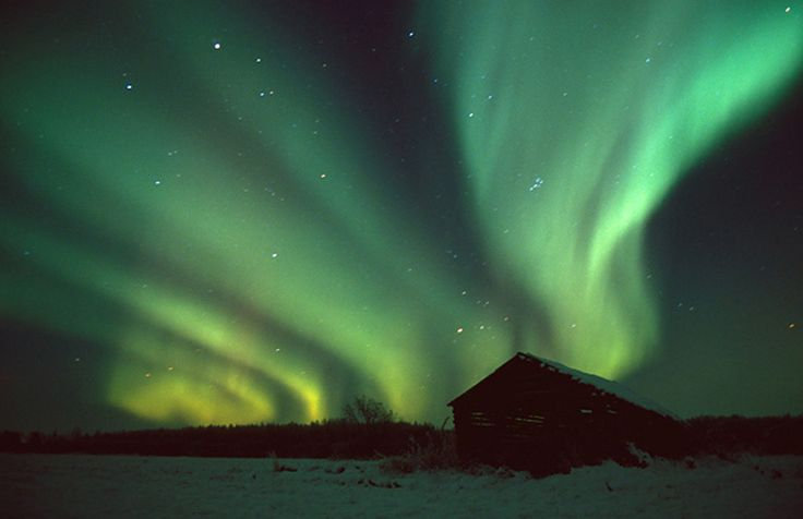 Northern Lights were especially active and spectacular in winter 2012.