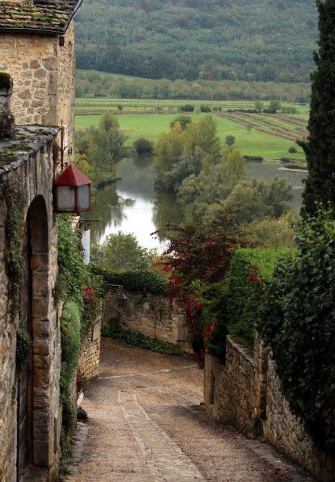 Beynac-et-Cazenac in the Dordogne department in southwestern France. The village is classified as one of the most beautiful villages of France.
