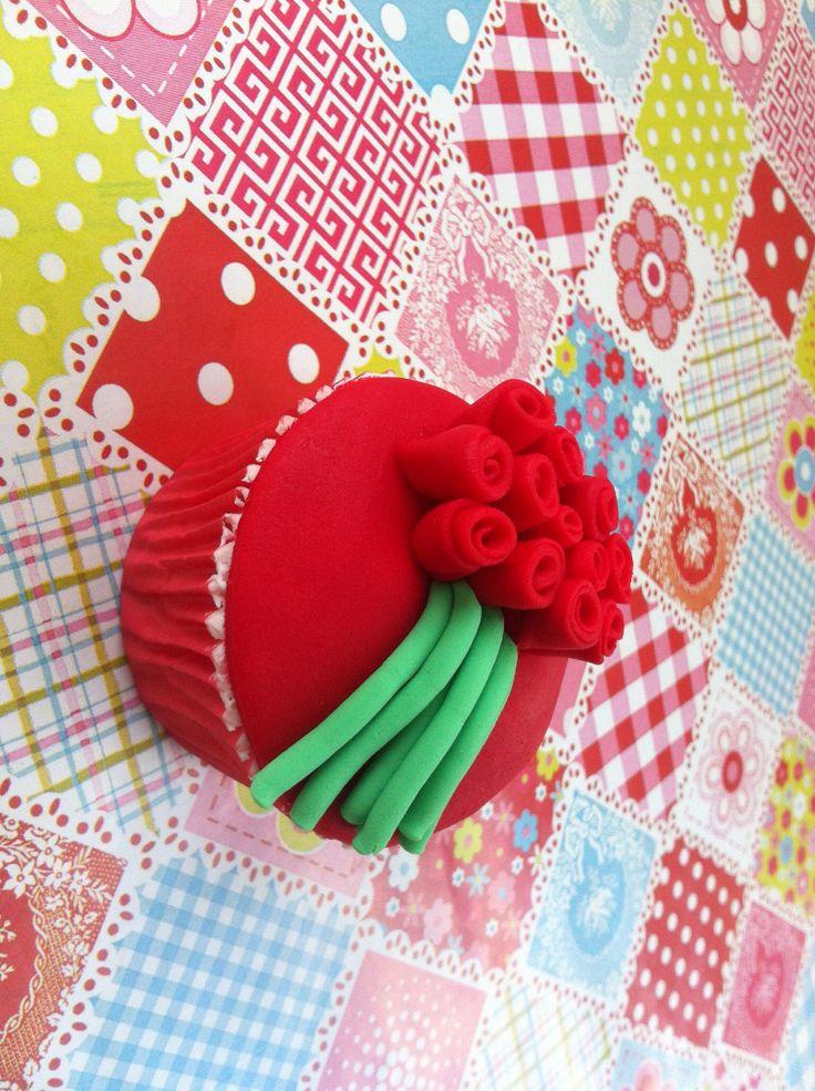 Cupcake ramo de rosas