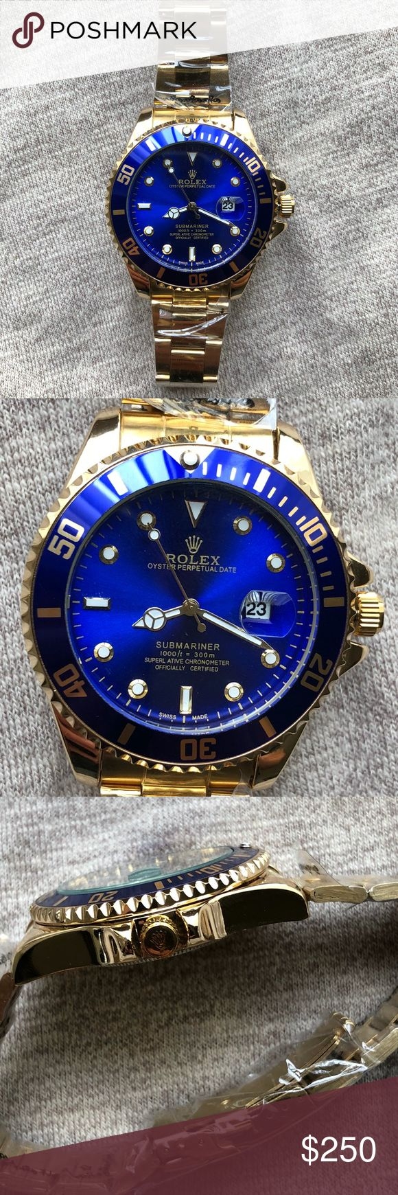 New Rolex Submariner Watch Brand New Rolex Submariner Men's Watch   This is a 1:1 SCALE PERFECT.   R. E. P.  L. I. C A Exactly like the original   Quartz moment   Same day shipping Rolex Accessories Watches