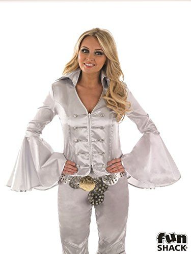 Ladies Silver Dancing Queen Costume for 70s 80s Abba Fancy Dress Outfit IN: XL Extra Large UK 20-22 UK 20-22 Partypackage Ltd http://www.amazon.co.uk/dp/B012DGBC0K/ref=cm_sw_r_pi_dp_8ffVvb1Z0EAYP