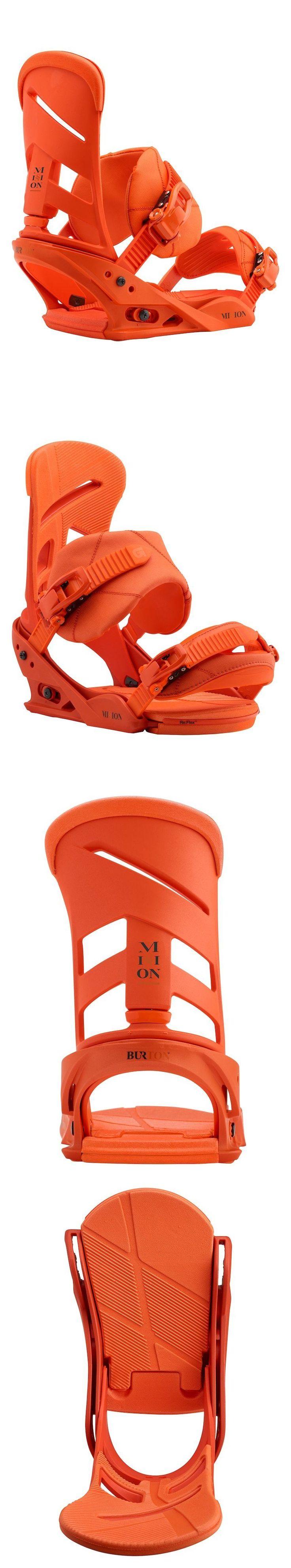 Bindings 21248: Burton Mission Snowboard Bindings - 2018 - Large (Men S Boot Size 11+), Orange -> BUY IT NOW ONLY: $249.95 on eBay!