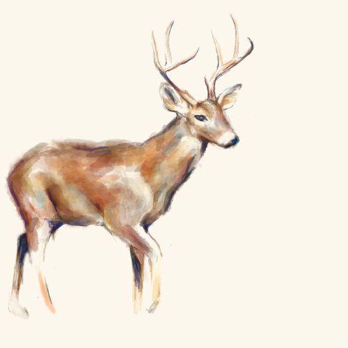Deer Art Print Christmas Gifts Deer Art Decor Deer