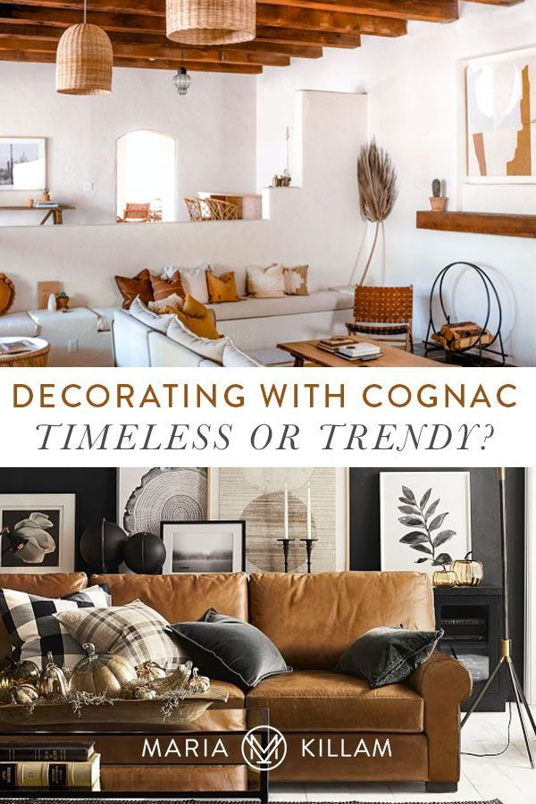 Is A Cognac Leather Sofa Timeless Or Trendy Yay Or Nay In 2021 Cognac Leather Sofa Living Room Design White Leather Sofa Living Room What color is cognac leather
