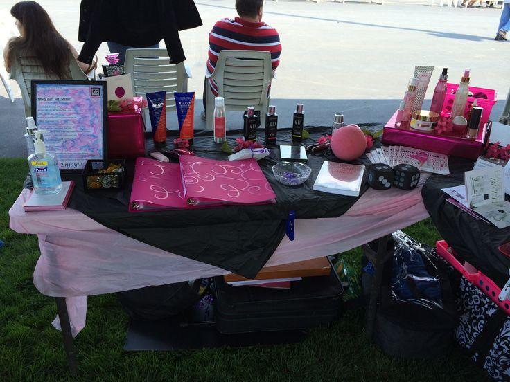 Vendor event table set up Pure Romance by Vana