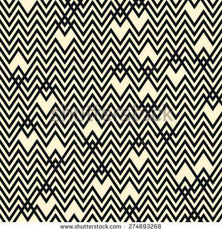 Seamless monochrome chevron pattern background