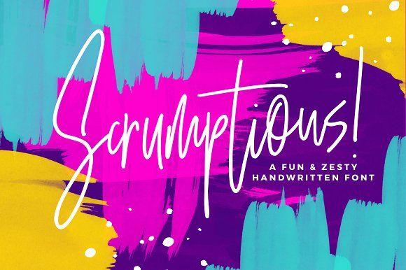 Scrumptious! Font by Sam Parrett on @creativemarket
