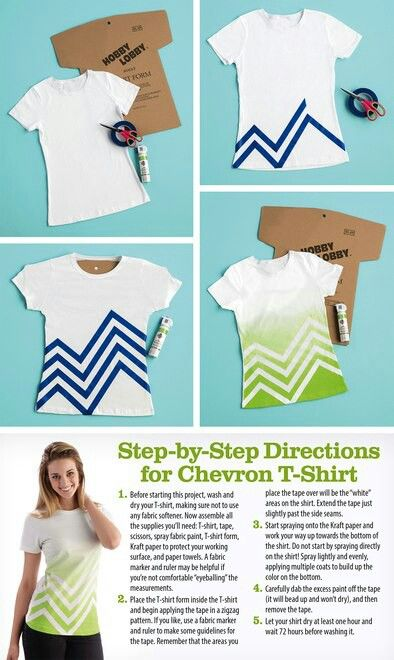 Chevron spray paint T-shirt