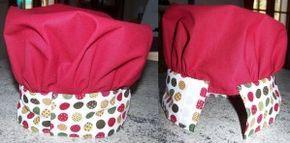 une toque pour enfant, assortie au tablier - Créations et bidouilles: Mes envies de couture et cuisine