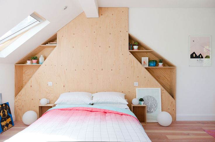 An idea for the chimney wall in the loft.  bock them in but put nooks in the voids 2 Lovely Gays | Trilby Road