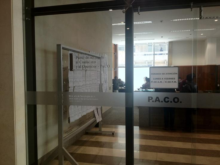 Bienvenido a PACO. No olvide su Permiso de Usuario para Tramites Administrativos.