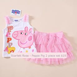 Peppa Pig Two Piece Set - $14