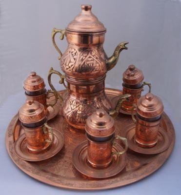 Tea Coffee Sets - Copper Kettle