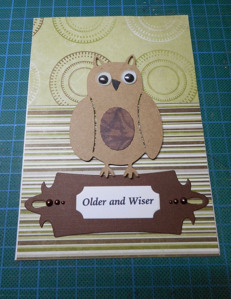 I added a Craftmad Die Cut Owl, Craft Concepts Label with computer generated sentiment and a couple of pearls