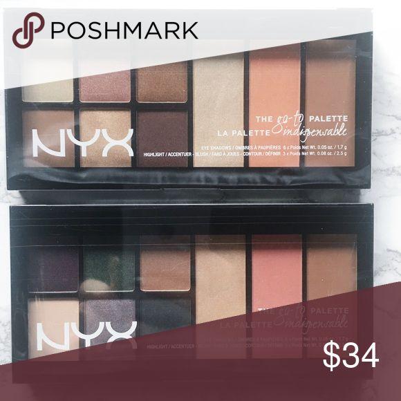 NYX palette bundle! Two brand new unopened NYX go-to palettes! 1. Bon Voyage 2. Wanderlust. NYX Makeup