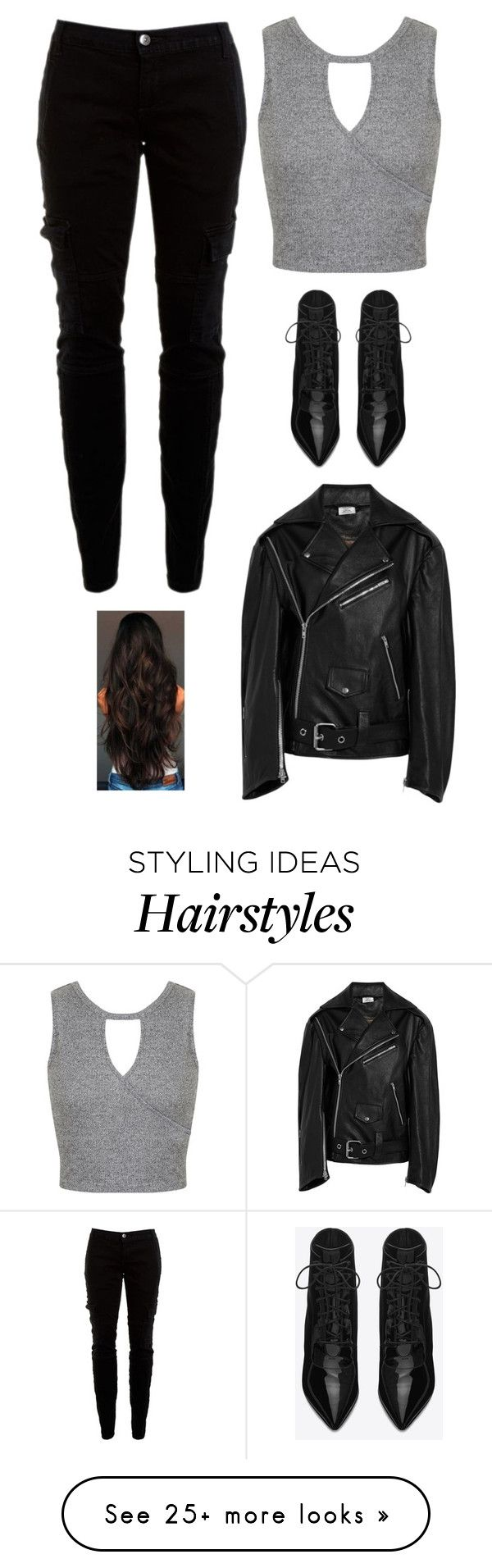 """""""Untitled #2205"""" by twerkinonmaz on Polyvore featuring Miss Selfridge, Joie, Yves Saint Laurent and Vetements"""