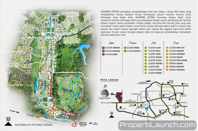 Peta Lokasi Suvarna Sutera Pasar Kemis Tangerang