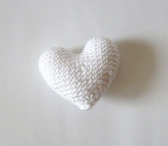 Amigurumi Crochet White Heart  Cake topper  Wedding by naryatoys