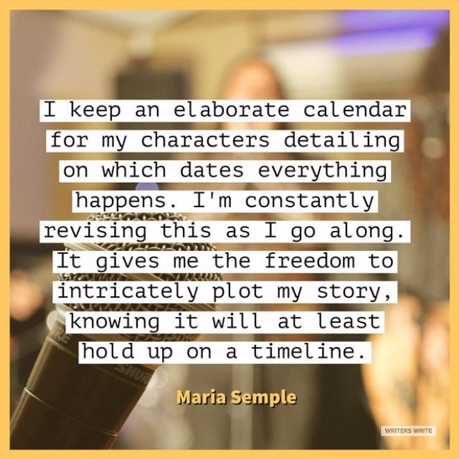 Quotable – Maria Semple - Writers Write