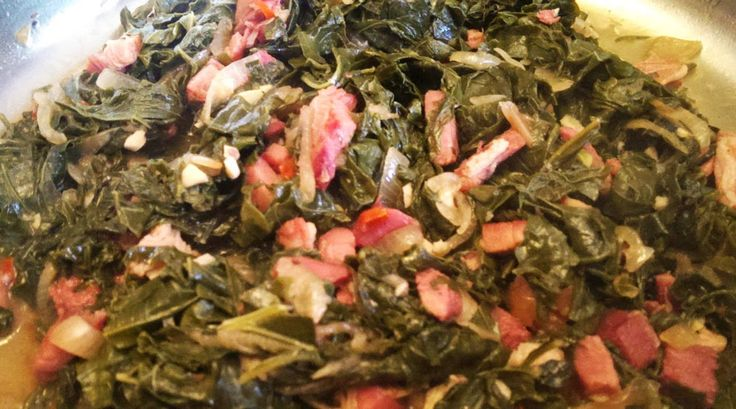 For the Love of Food: Braised Kale and Collards with City Ham