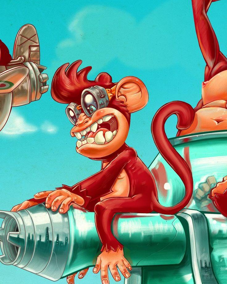 Illustration - Red Ape