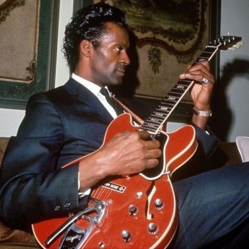 """Chuck Berry. I see this photo & """"Maybelline"""" starts playing in my head.  via 70sBestBlackAlbums tumblr"""