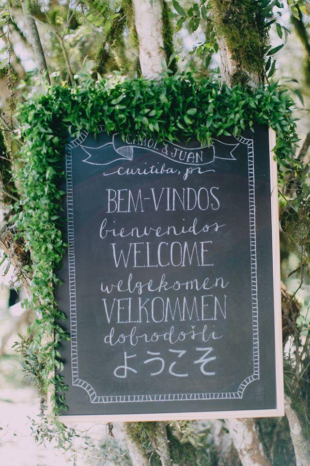 Chalkboard de Boas-Vindas