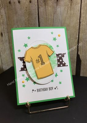 SSINKspiration, color challenge, 2017 Occasions Catalog, Custom Tee, Birthday Blast, birthday, Big Shot, Framelits, watercolor, #stampinup, #stampinfunwithdiana