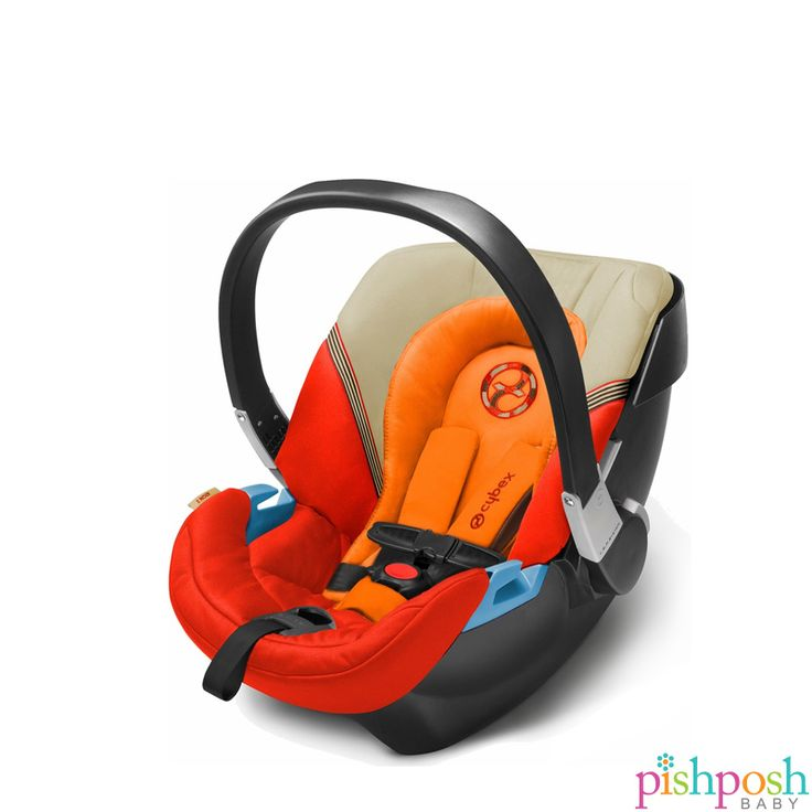 The CYBEX Aton 2 infant car seat offers side impact protection with innovative Linear Side Impact Protection, with an adjustable Load Leg on the base. Available in 9 stunning colors, including Autumn Gold (shown). Sale price - 199.95. http://www.pishposhbaby.com/cybex-aton2-2015.html