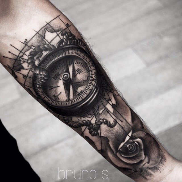 Tattoo b ssola minha tatto pinterest tatuagem for Tatoo bussola