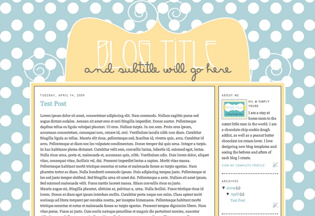 Michael's Template - Help raise money for the Ebstein's Anomaly Foundation by purchasing this cute blog design.