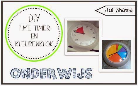 Juf Shanna: DIY: time timer en kleurenklok